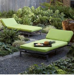 Made in USA Patio Chaise with Sunbrella