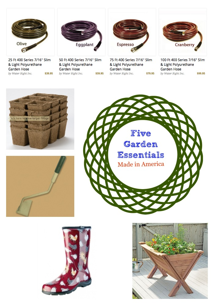 Five Made in America Gardening Essentials Red White and Blueish